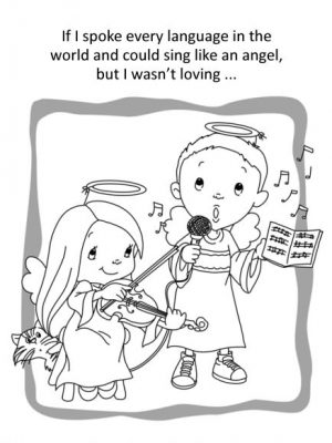 1 Corinthians 13 Coloring Book for kids
