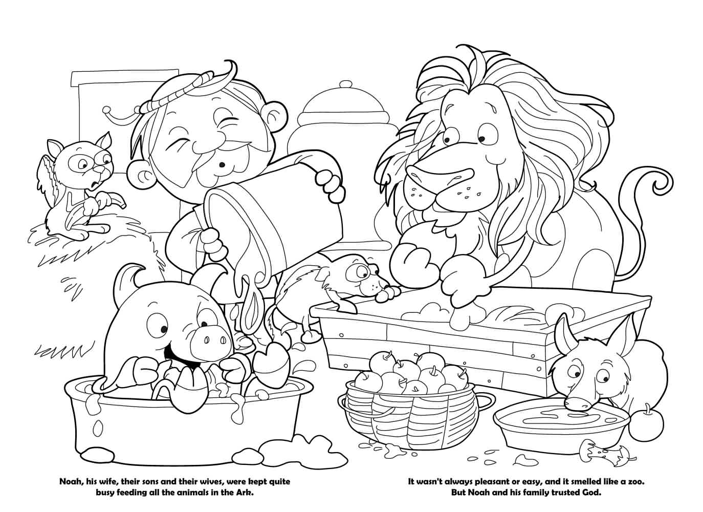 Noah Coloring Book ICharacterorg
