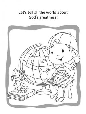 Psalm 100 coloring and activity book