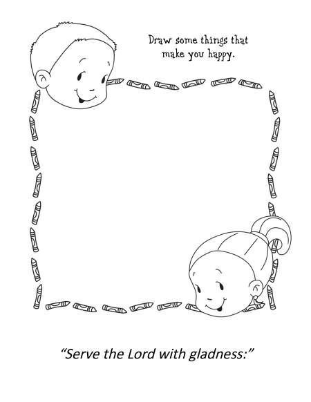 Psalm 100 coloring pages murderthestout for Psalm 139 coloring page