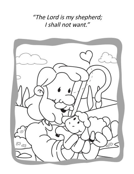 23rd Psalm Colouring Pages