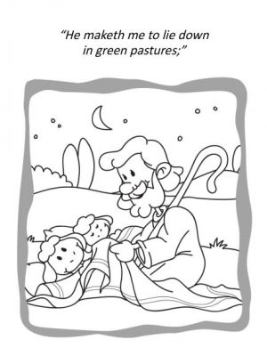 Psalm 23 coloring book for kids