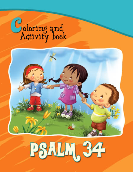 Kids Book Cover Page : Psalm coloring and activity book icharacter