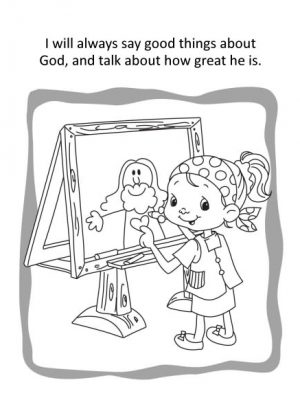 Psalm 34 Coloring and Activity Book