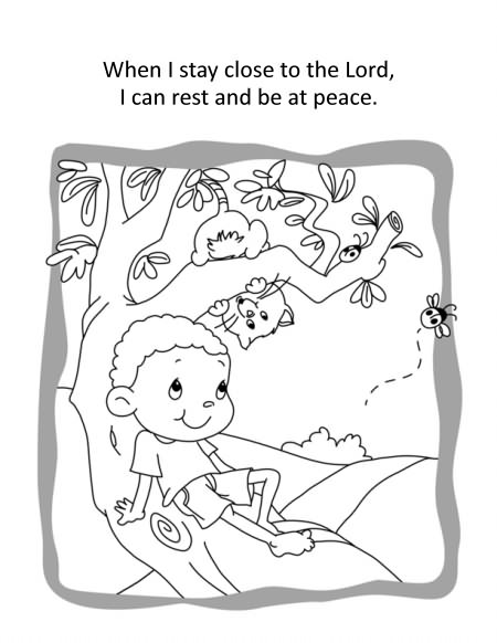 Psalm 91 Coloring and Activity Book for sunday school