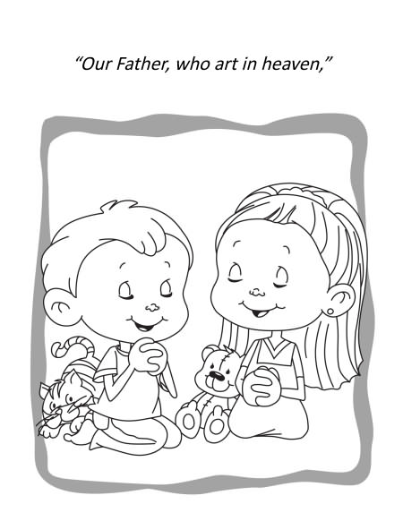 Lords prayer colouring pages