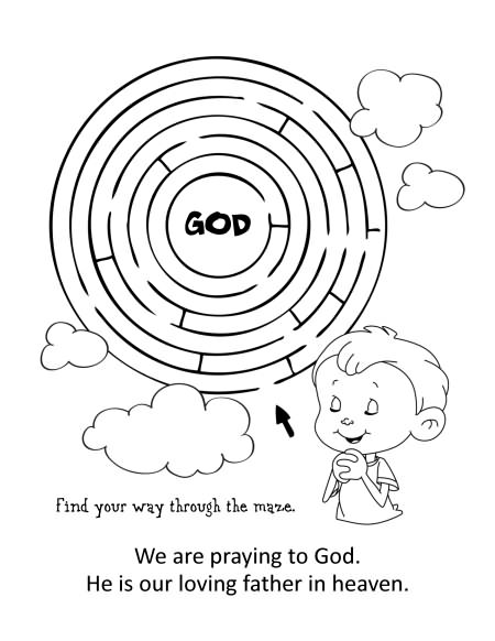 the lords prayer coloring and activity book - Coloring And Activity Books