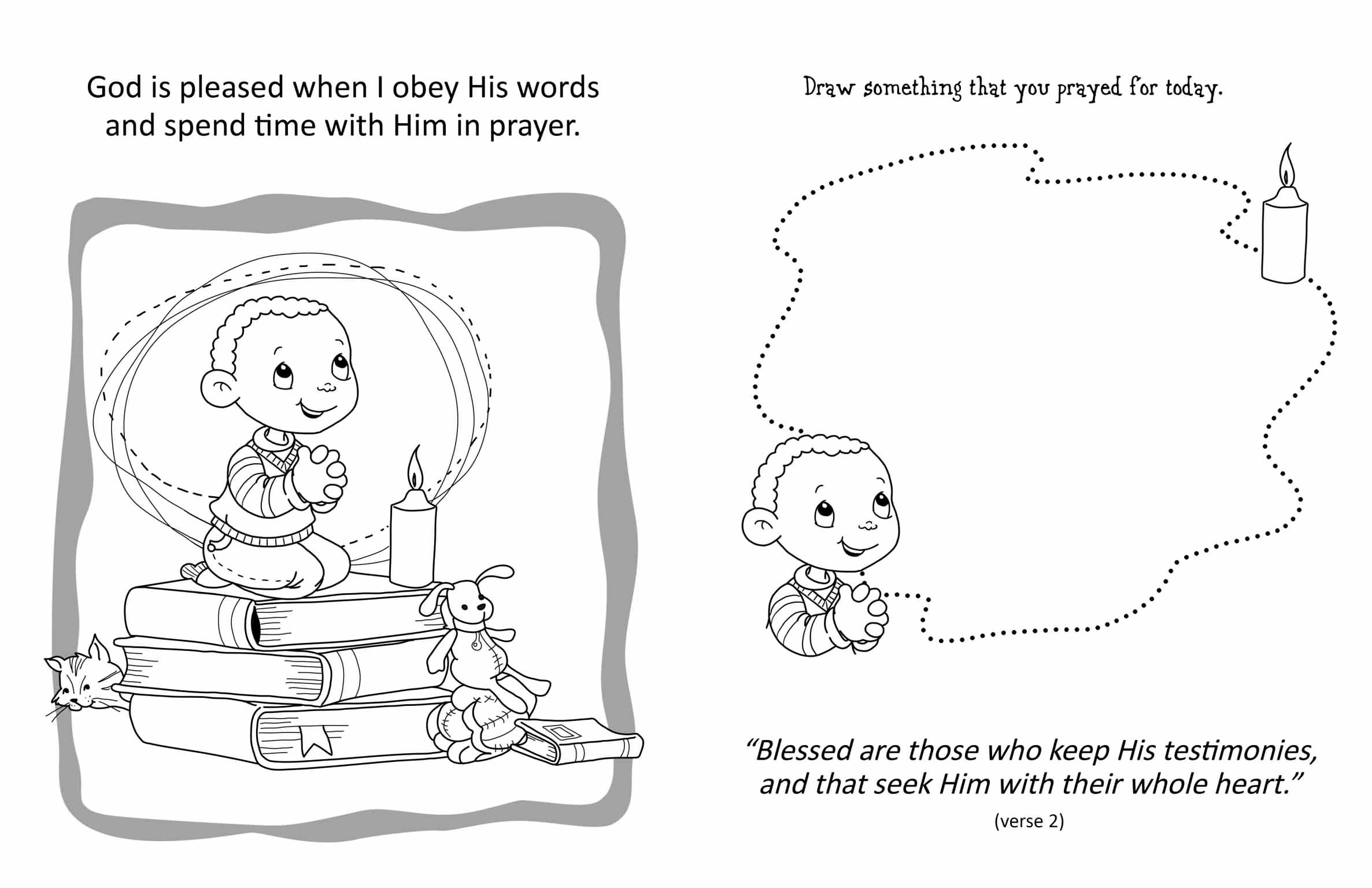 coloring pages for psalm 119 - photo#14