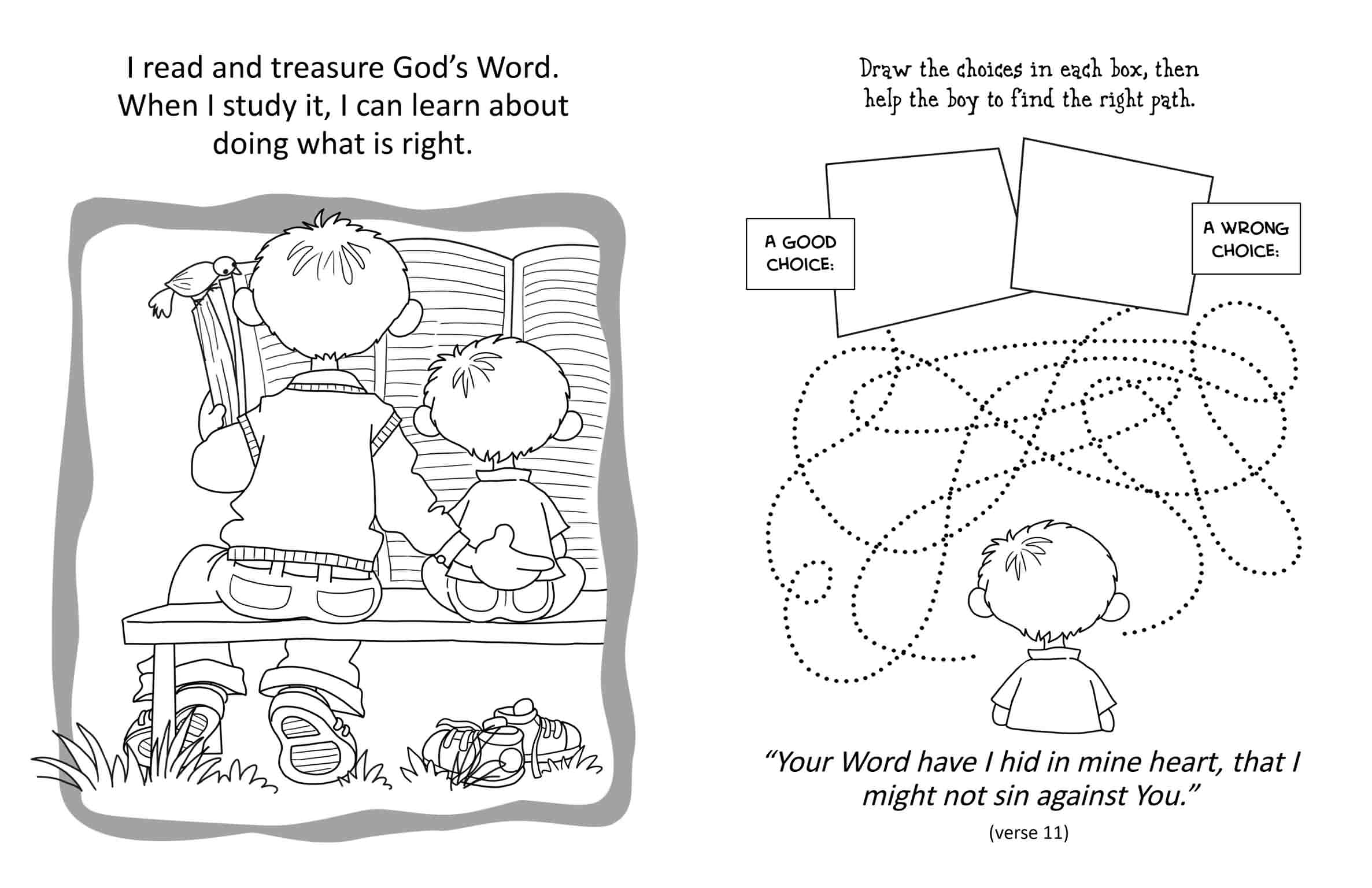 Psalm 119 Coloring And Activity Book