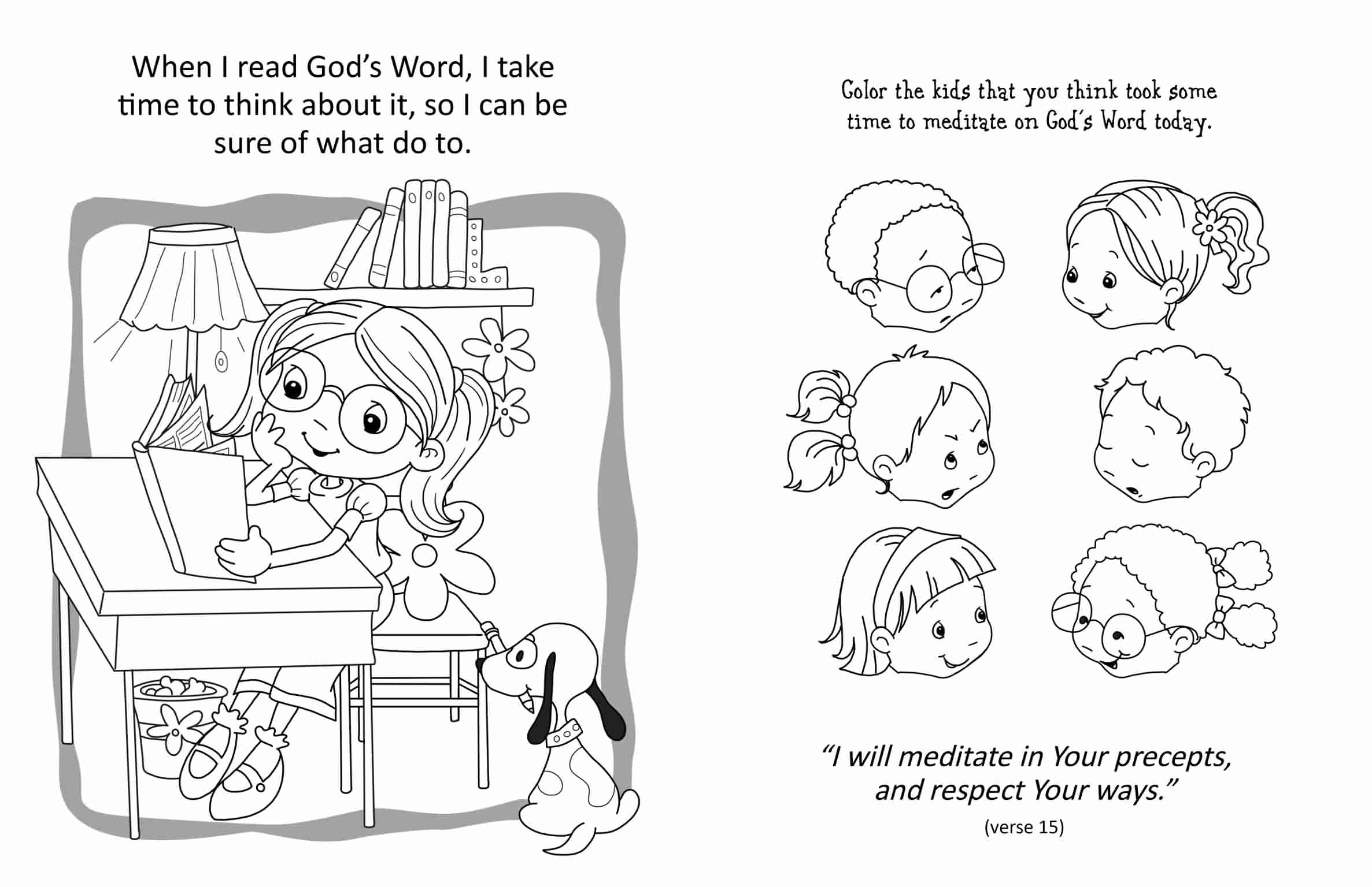 coloring pages for psalm 119 - photo#8
